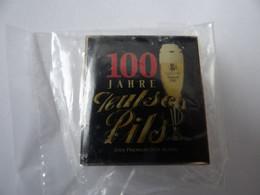 Bier-Pin: Allgäuer Brauhaus - 100 Jahr Teusch-Pils , Kempten, Bayern, OVP - Birra
