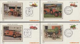 Australië 1983 - Mi:820/823, Yv:806/809, Fdc Z/s - O - Old Fire Trucks - Omslagen Van Eerste Dagen (FDC)