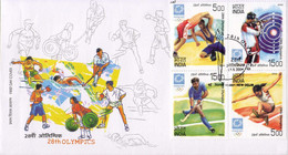 India 2004, Wrestling / Lutte / Shooting / Tir / Field Hockey / Long Jump / Etc. / FDC - Other