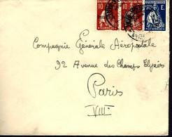LETTRE DU PORTUGAL - POUR PARIS - ANNÉES 30 - Cartas