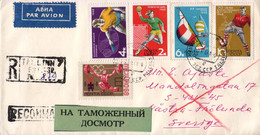 USSR / URSS 1968, Handball / Sailing / Voile / Football / Table Tennis / Weightlifting / Haltéro / Circulated Cover - Other