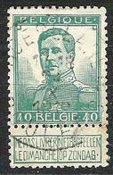 BELGIE OBP 114 Afstempeling Roeselare Roulers 1912 - 1912 Pellens