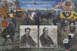 A 955 -6 Czech Republic Postal History Of The Czech Republic 2017 Heraldic Lion - Posta