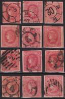 1864 Lote Ed.64 Matasellos Parrilla Y Rueda De Carreta - Used Stamps