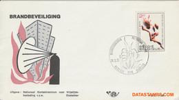 België 1973 - Mi:1713, Yv:1650, OBP:1660, Fdc - O - Fire Expander - 1971-80