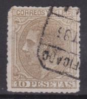 1879ALFONSO XII EDIFIL 209 10 Pesetas Usado Catalogo 390 € - Nuevos
