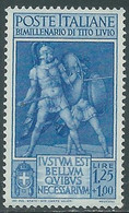 1941 REGNO TITO LIVIO 1,25 LIRE MNH ** - RE9-10 - Mint/hinged