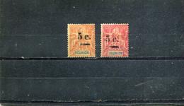 Réunion 1901 Yt 52-53 - Usados