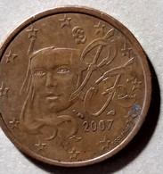 2007 - FRANCIA - MONETA IN EURO  - DEL VALORE DI  5 CENTESIMI -  USATA - France