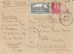 """1943 - C P D'Alger,  En F M ,Par Avion Pour L'Angleterre Taxe 7,40 F  """" CORPS FRANCS D'AFRIQUE """" - WW II"""