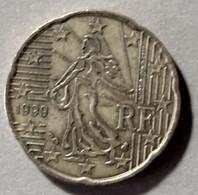 1999 - FRANCIA - MONETA IN EURO  - DEL VALORE DI  20 CENTESIMI  -  USATA - France