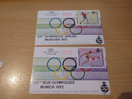 E121 / 122 Olympische Spelen Munchen Met Opdruk - Erinnofilie