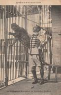 REF.AD4 . CPA . CINEMA ATTRACTION . LE DOMPTEUR ROBERT ET LA PANTHERE MADRID - Circo