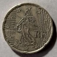 2001 - FRANCIA - MONETA IN EURO  - DEL VALORE DI  20 CENTESIMI  -  USATA - France