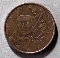 1999 - FRANCIA - MONETA IN EURO  - DEL VALORE DI  1 CENTESIMI  -  USATA - France