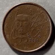 2001 - FRANCIA - MONETA IN EURO  - DEL VALORE DI  1 CENTESIMI  -  USATA - France