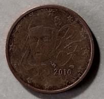 2010 - FRANCIA - MONETA IN EURO  - DEL VALORE DI  2  CENTESIMI  -  USATA - France