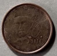 2014 - FRANCIA - MONETA IN EURO  - DEL VALORE DI  2 CENTESIMI  -  USATA - France