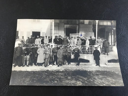 Photo - 1918 - Foyer Des Alliés - INTERLAKEN (Suisse) Soldats Français Internés (Capitaine CARTON) - War, Military