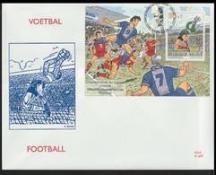 Belgium FDC 1998 FIFA World Cup Football In France Souvenir Sheet - Larger Than A5 (LAR10-53) - 1998 – Frankreich