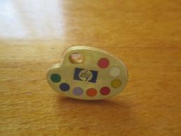 A043 Pin's HP - Hewlett Packard - La Palette De Peintre - Zamac - Tosca - F085 - Carburanti