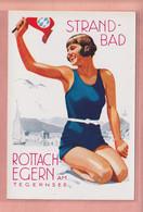 OLD POSTCARD -  ADVERTISING - POSTER ART - AUSTRIA - STRANDBAD - TEGERNSEE - ED. SONNTAG/MUNCHEN - Advertising