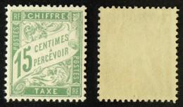 N° TAXE 30 15c Vert  Neuf N** TB Cote 90€ - 1859-1955 Mint/hinged