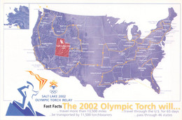 USA Postcard 2002 Salt Lake Olympic Games Torch Relay - Mint  (G131-19) - Hiver 2002: Salt Lake City