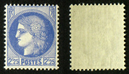 N° 374 2,25F CERES Outremer Neuf N** TB Cote 20€ - Non Classificati