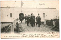 Cappellen / Kapellen - La Visite Des Officiers Américains Au Fort De Cappellen - N°625 - Ph: Hoelen - Circulé: 1905 -2sc - Kapellen