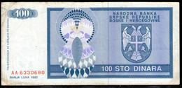 Bosnia And Herzegovina,10 Dinara 1992,P135,as Scan - Bosnia Erzegovina