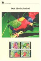 Fidschi 2012 - WWF Der Einsiedlerlori - Komplettes Kapitel Postfrisch MK FDC - Unclassified