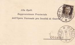 Mascioni (Aquila) Frazionario 3-194 Del 1941 Splendido - Marcofilía