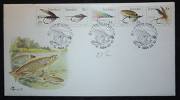 FDC - Pêche à La Mouche, Poisson, Truite, Hameçon, Butterworth Afrique Du Sud (Fishing-Flies - Transkei, South Aei) - Fishes