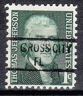 USA Precancel Vorausentwertung Preo, Locals Florida, Cross City 841 - Vorausentwertungen