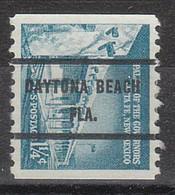 USA Precancel Vorausentwertung Preo, Bureau Florida, Daytona Beach 1054A-71 - Vorausentwertungen