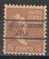 USA Precancel Vorausentwertung Preo, Locals Florida, Delray Beach 825 - Vorausentwertungen