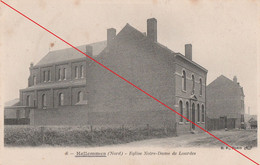 Ansichtskarte Frankreich 59 Nord Hellemmes Nord Eglise Notre Dame De Lourdes Feldpost 1915 - Lille