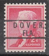 USA Precancel Vorausentwertung Preo, Locals Florida, Dover 801 - Vorausentwertungen