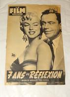 """REVUE LE FILM COMPLET, REPORTAGE SUR """" 7 ANS DE REFLEXION """" AVEC MARILYN MONROE, TOM EWELL, 1956 - Cinéma/Télévision"""