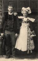 N°84316 -cpa Mariés De Lanriec- - Costumi