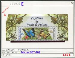 Wallis & Futuna - Michel 907-908 -  ** Mnh Neuf Postfris - Schmetterlinge Butterflies Papillons - Unused Stamps