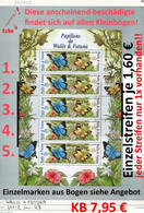 Wallis & Futuna - Michel 907-908 Im KB / MF -  ** Mnh Neuf Postfris - Schmetterlinge Butterflies Papillons - Unused Stamps
