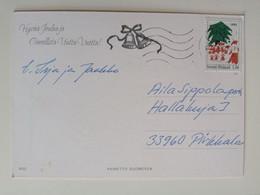 1993..FINLAND ...VINTAGE POSTCARD WITH STAMP..CHRISTMAS - Cartas