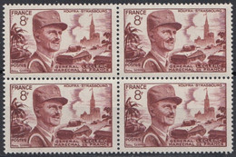 1953 FRANCE N** 942 MNH Bloc De 4 - Unused Stamps