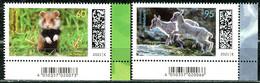 BRD - Mi 3608 / 3609 ◰ ✶✶ # - 60-95C  Tierkinder Feldhamster, Steinbock,  Ausg.: 10.06.2021 - Nuevos