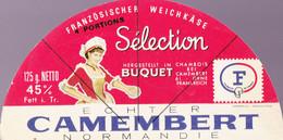 ÉTIQUETTE DE FROMAGE -  DEMI CAMEMBERT - BUQUET - Cheese