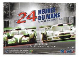 AUTOCOLLANT 24 HEURES DU MANS, JUN 1999, COURSE AUTO AUTOMOBILE, CIRCUIT INTERNATIONAL DU MANS, PUB MOBIL - Car Racing - F1