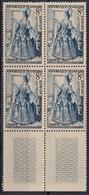 1953 FRANCE N** 956 MNH Bloc De 4 - Nuevos