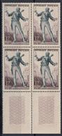 1953 FRANCE N** 957 MNH Bloc De 4 - Nuevos